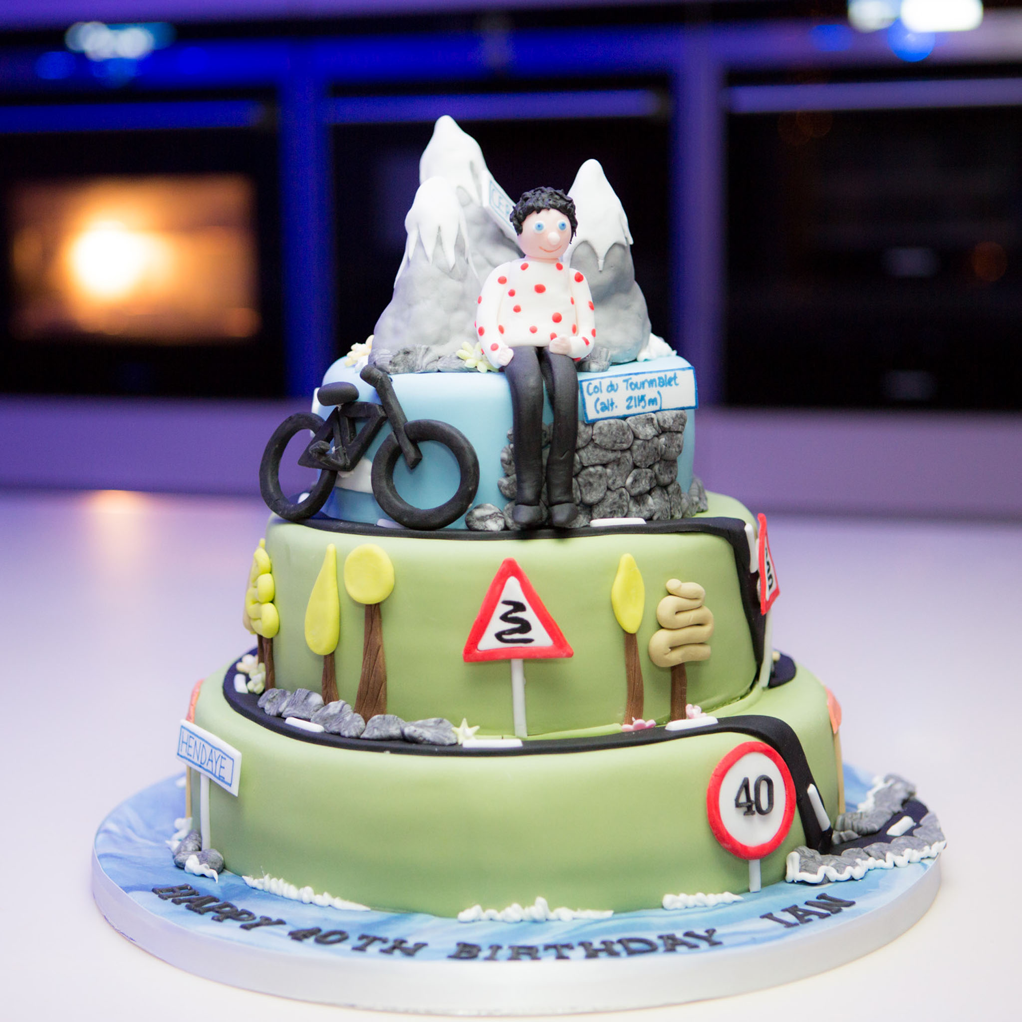 Photography of a 40th birthday cake