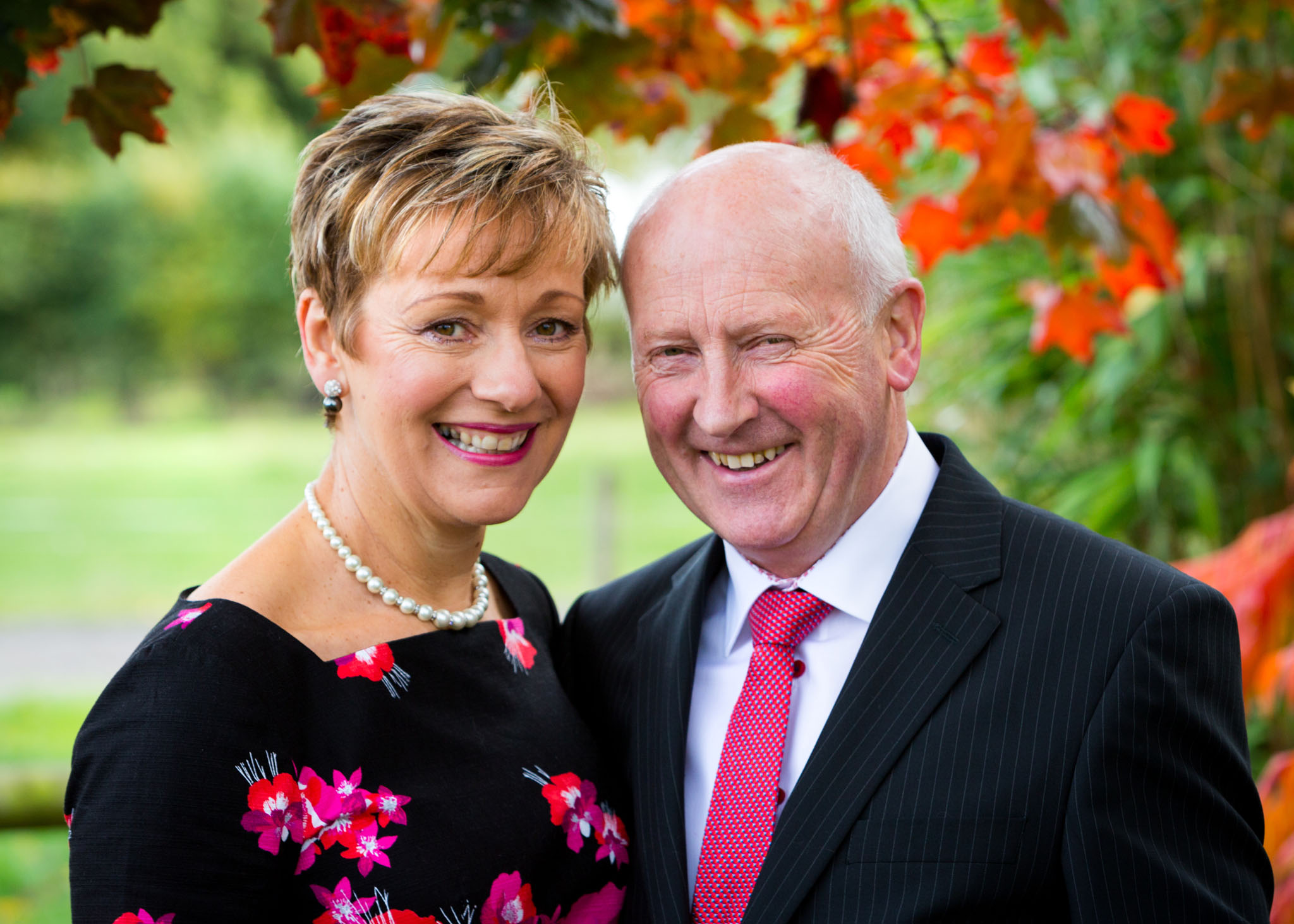 A cheshire couple celebrate their ruby wedding