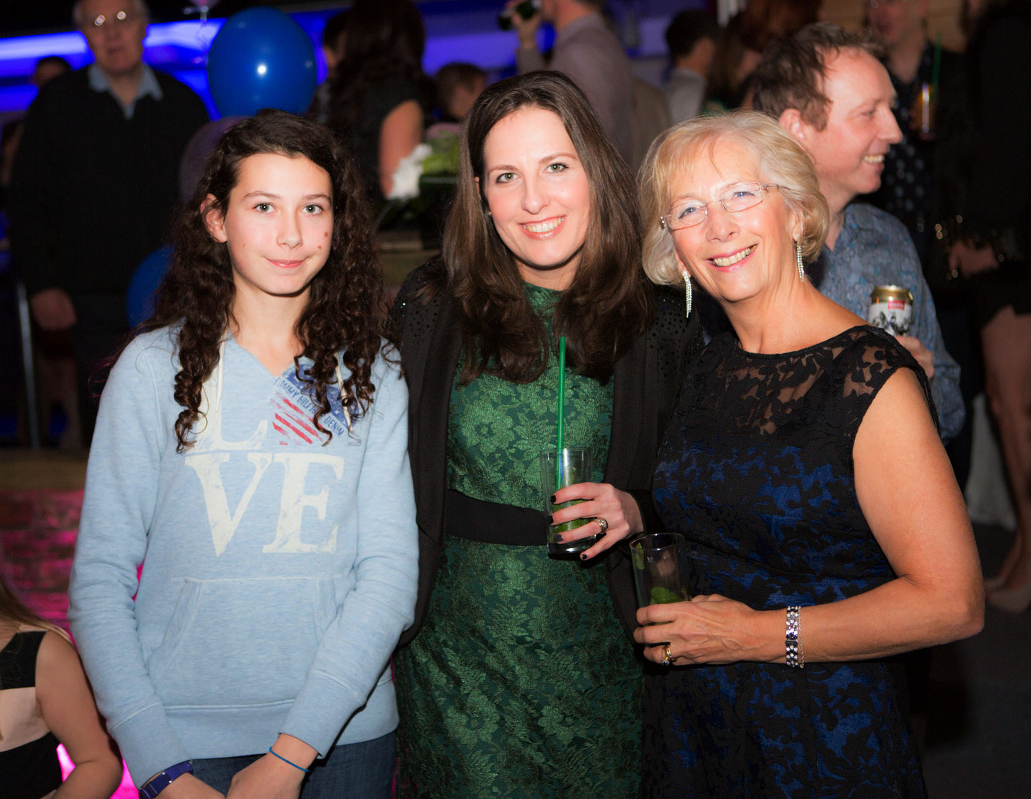 Photograph of guests celebrating at a 40th birthday party in Alderley Edge, Cheshire