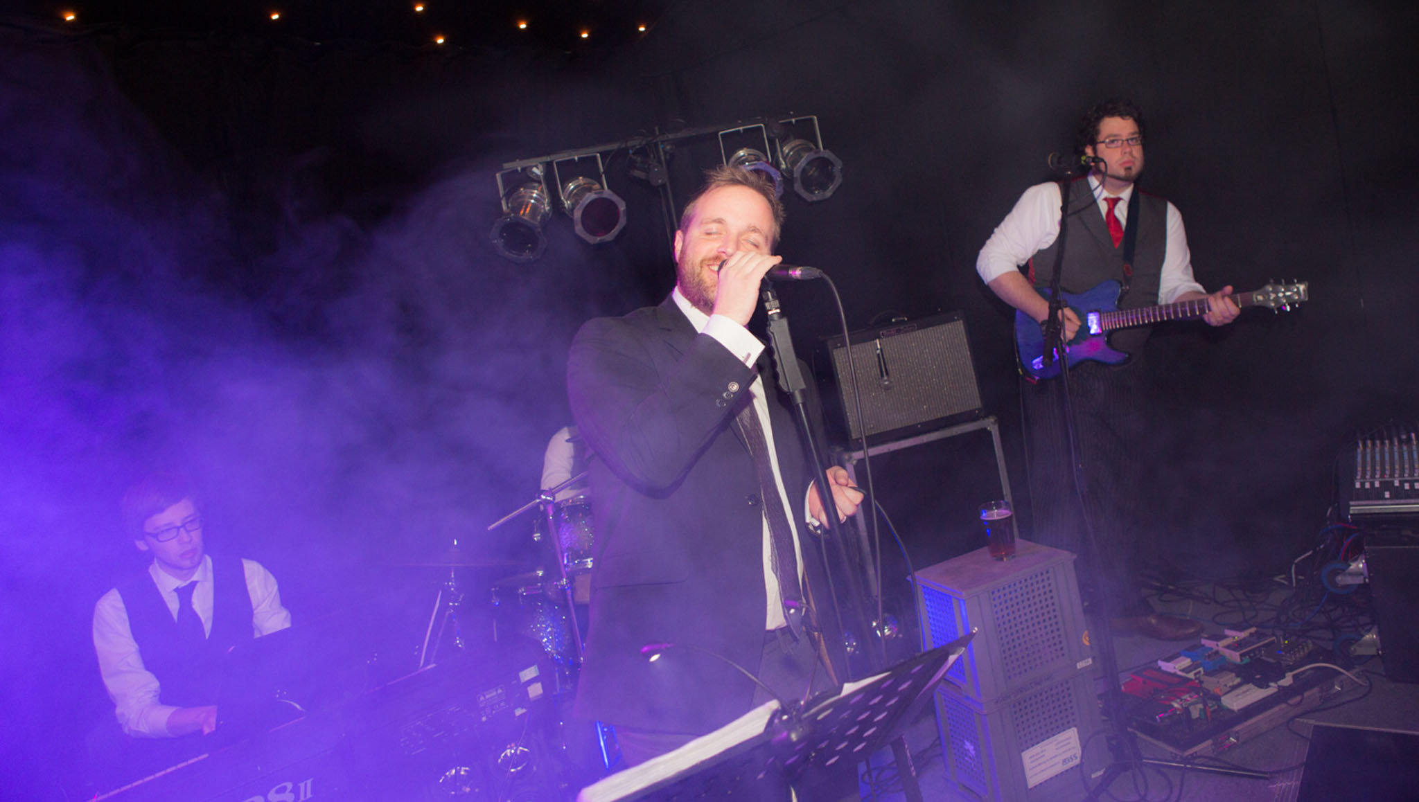 Live band performing at a 40th birthday party in Alderley Edge, Cheshire