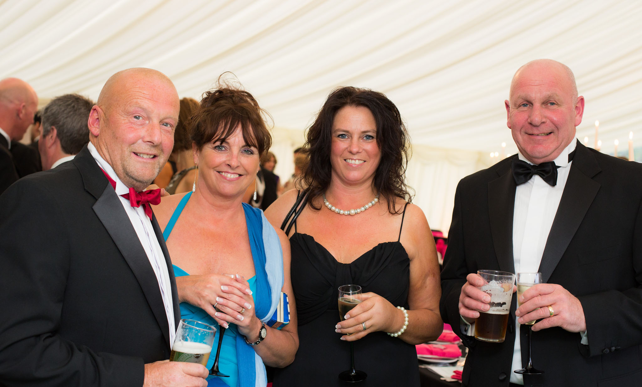 Photograph of guests enjoying a family celebration on Wirral