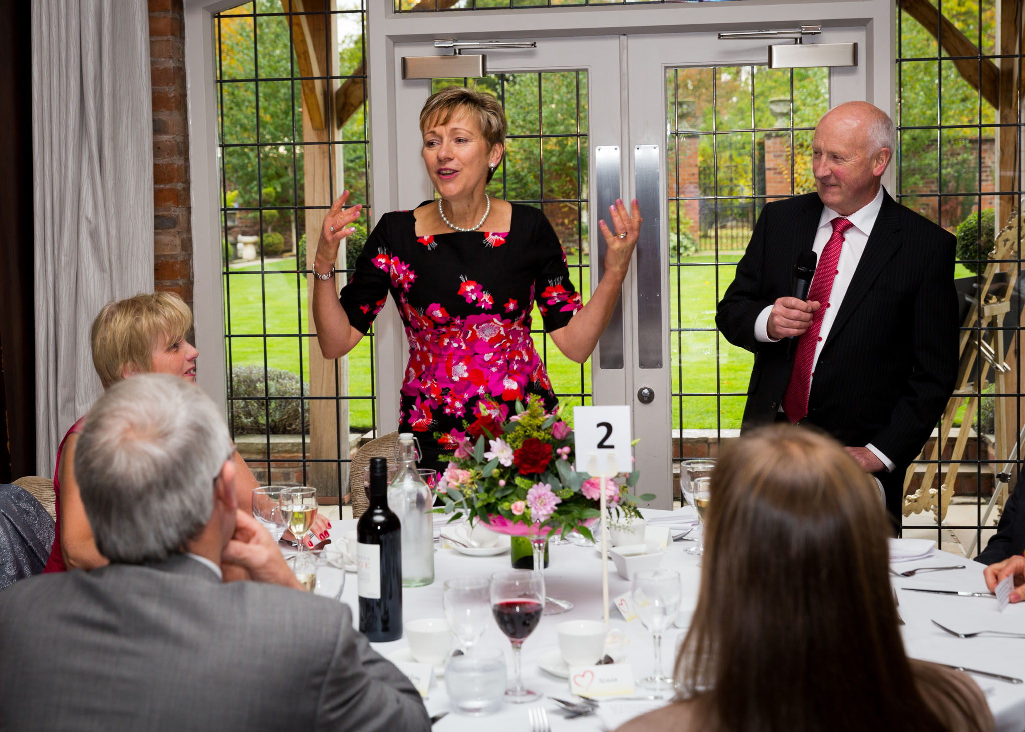 Photography at a ruby wedding party at Colshaw Hall, near Knutsford, Cheshire