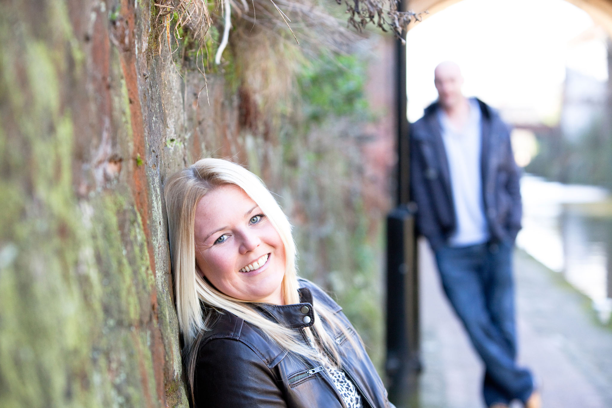 A couples portrait in Manchester by Cheshire lifestyle photographer Andrew Collier Photography