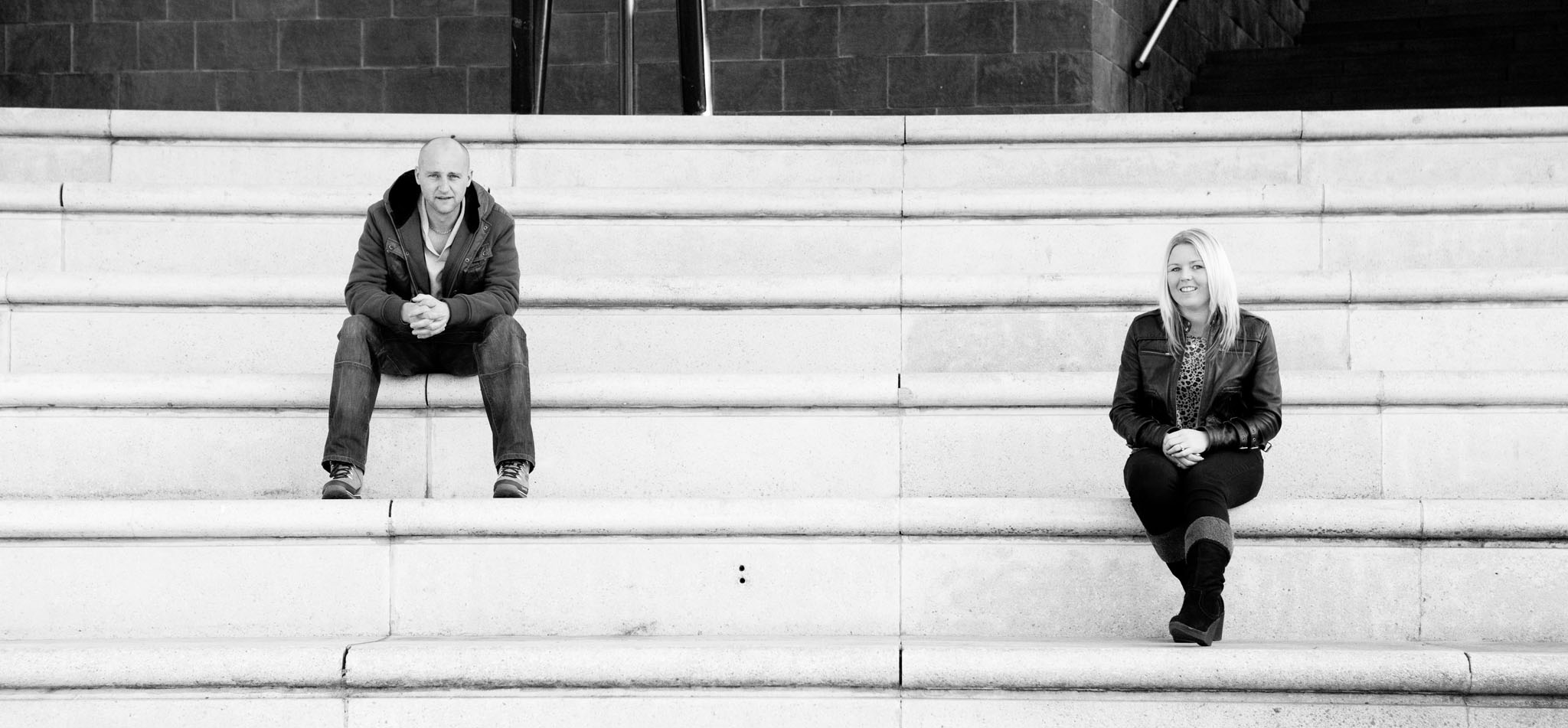 A couples portrait at Castlefield Arena in Manchester by Cheshire lifestyle photographer Andrew Collier Photography