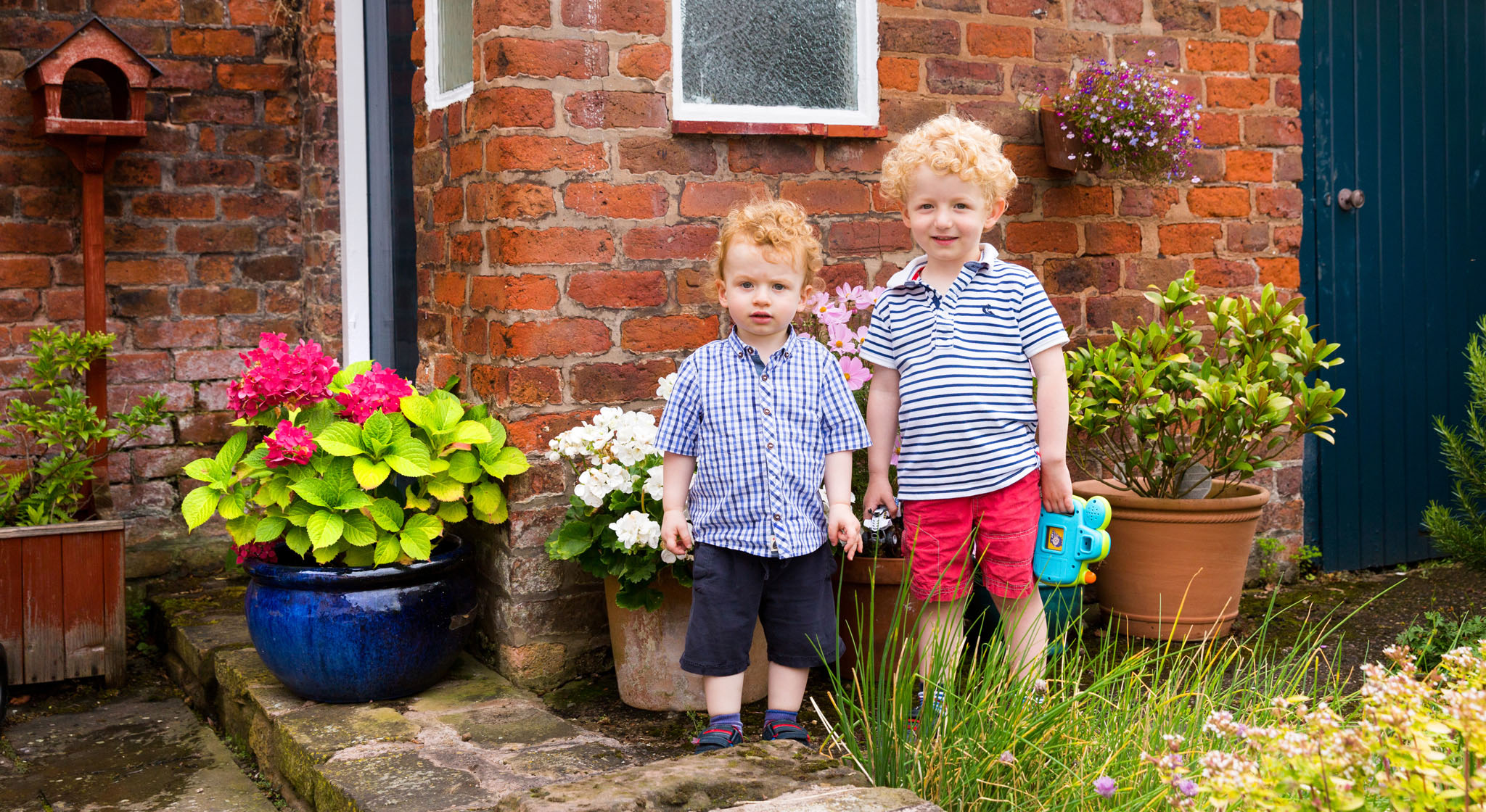 Family portrait photography of young brothers in Chester, Cheshire
