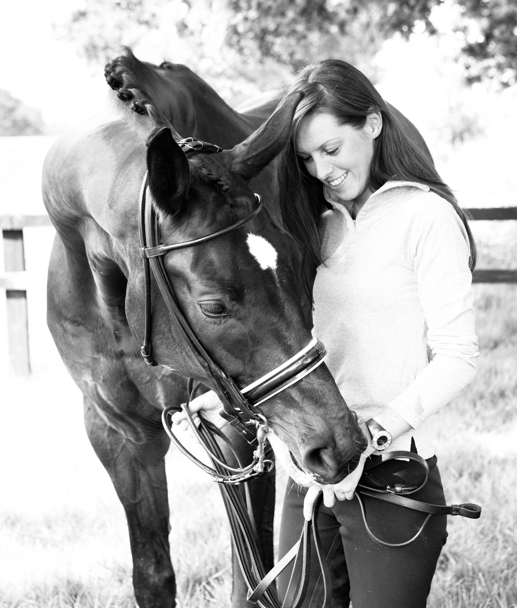 Equine portrait photography horse and owner in Croft near Warrington by Cheshire based horse photographer, Andrew Collier Photography