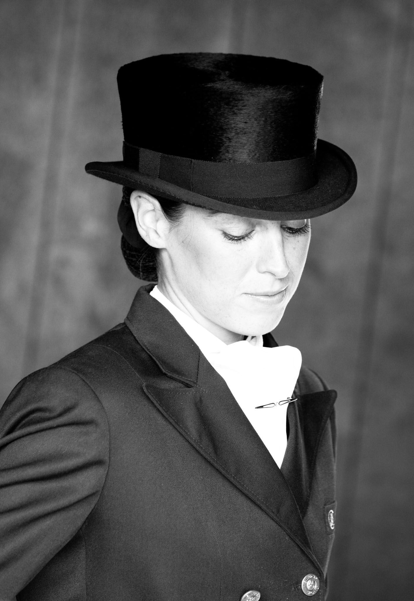 Portrait photograph of dressage rider in Croft near Warrington by Cheshire based horse photographer, Andrew Collier Photography