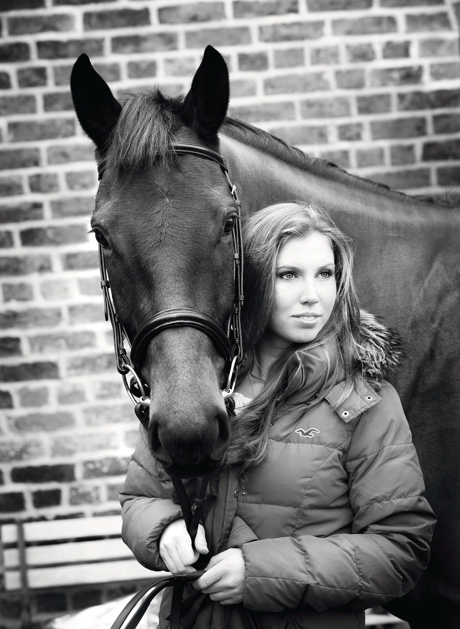Equine portrait photograph of horse and owner in Holmes Chapel by Cheshire based horse photographer, Andrew Collier Photography