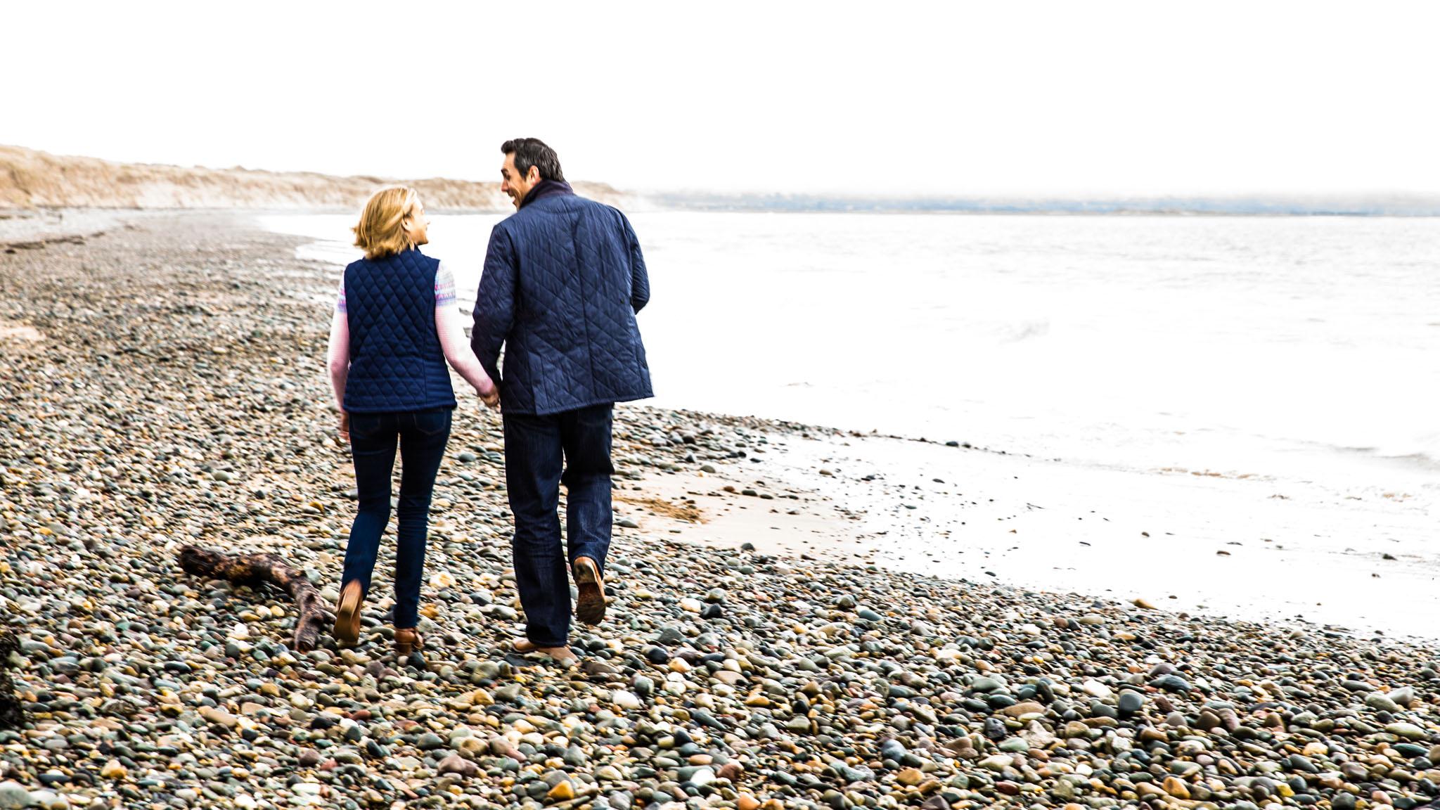 Prewedding shoot Newborough Beach, Anglesey by Cheshire wedding photographer Andrew Collier Photography