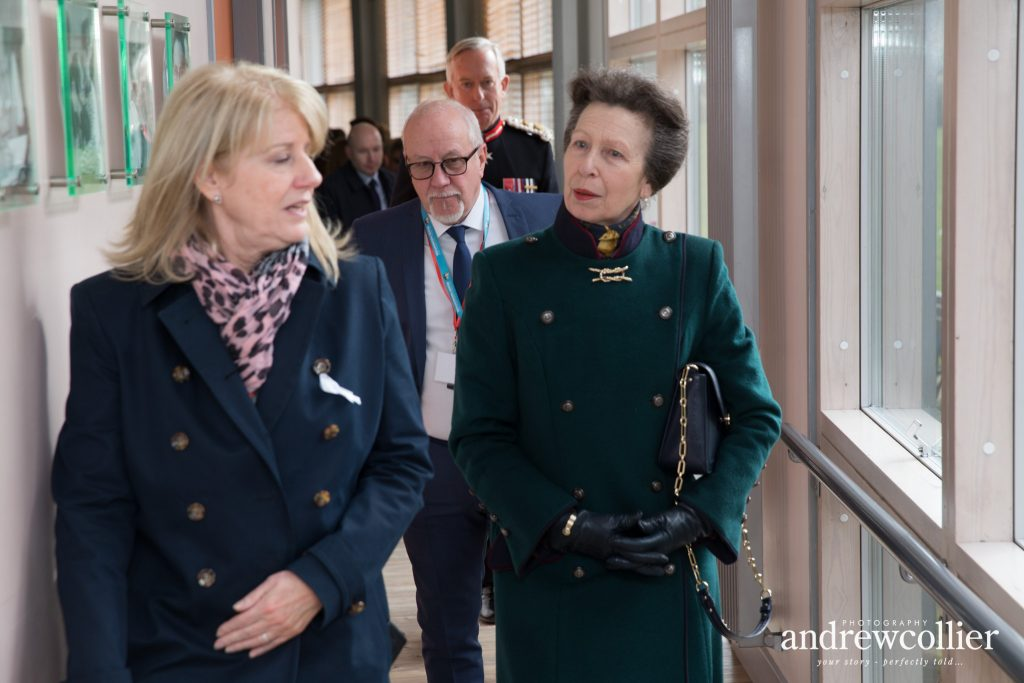 HRH The Princess Royal with Wendy & Colin Parry