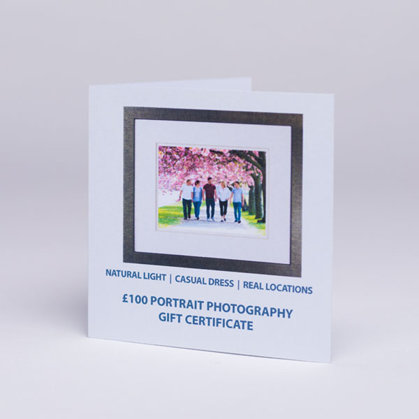 £100 family portrait voucher