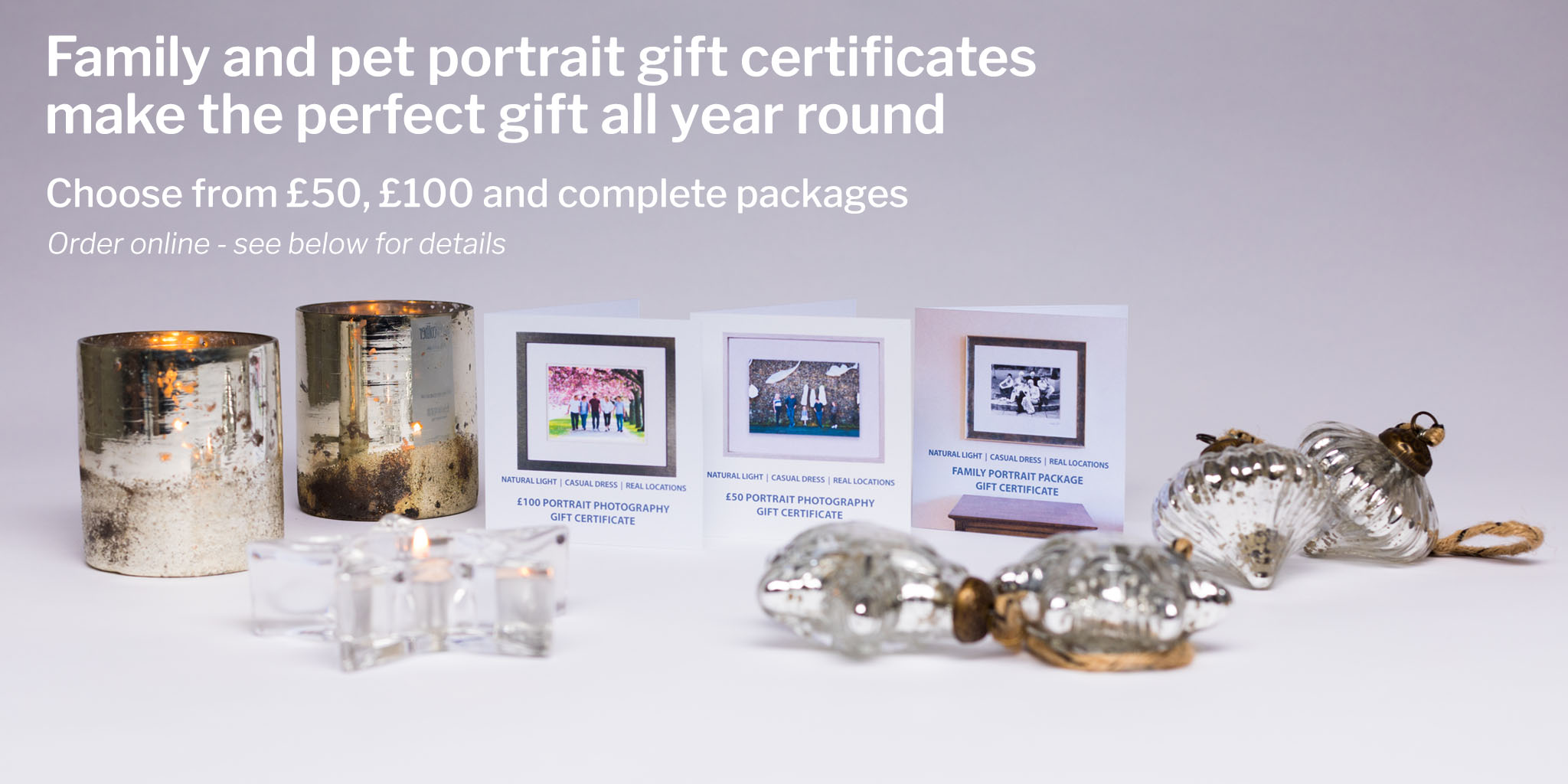Family portrait gift vouchers from just £50