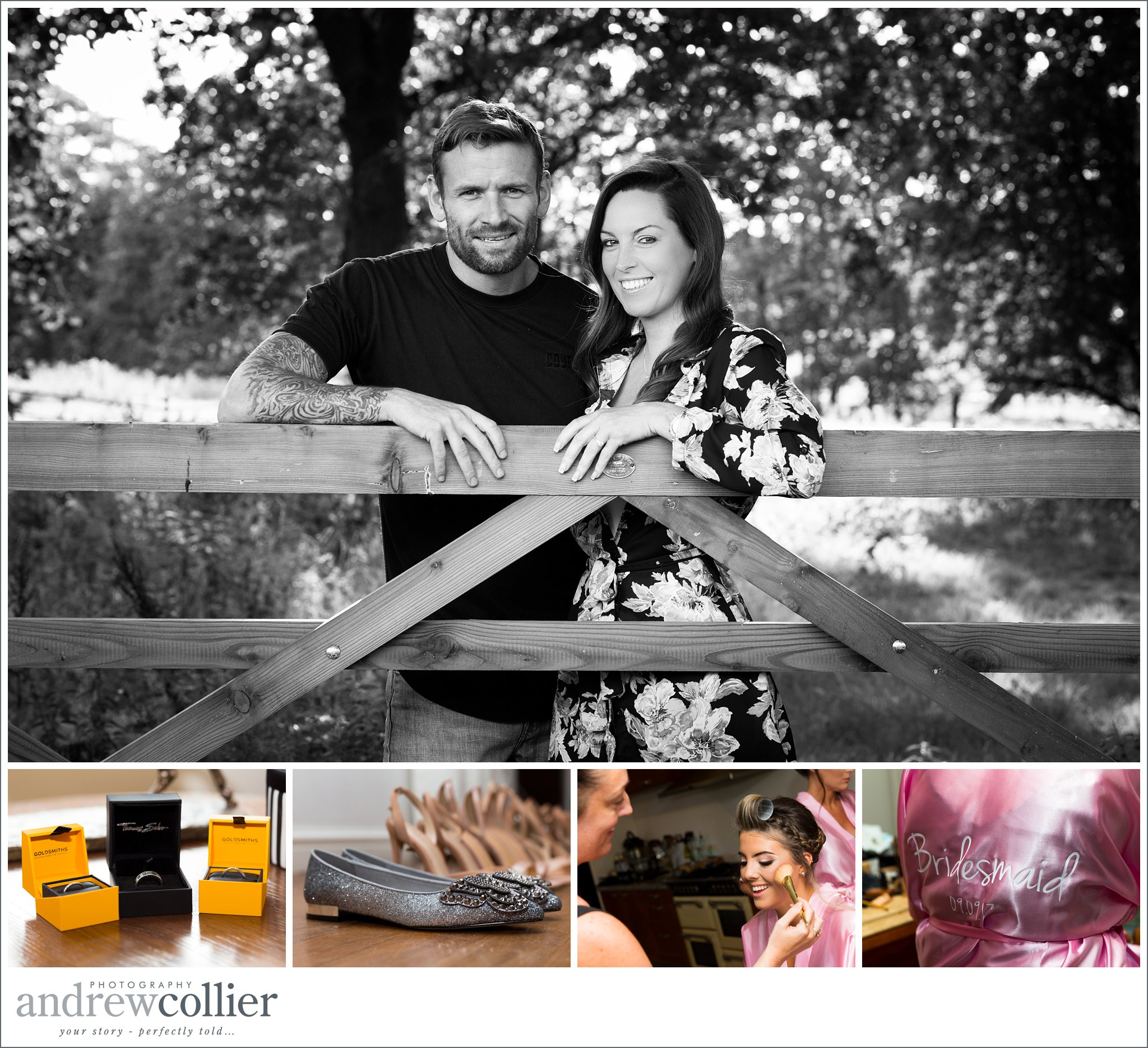 Engagement and preparation photography in Cheshire