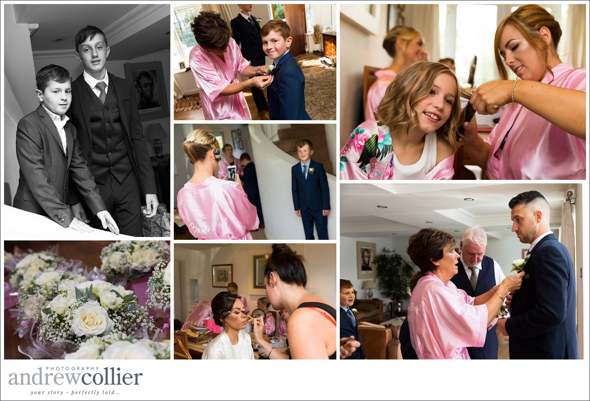Wedding photography preparations in Newton-le-Willows