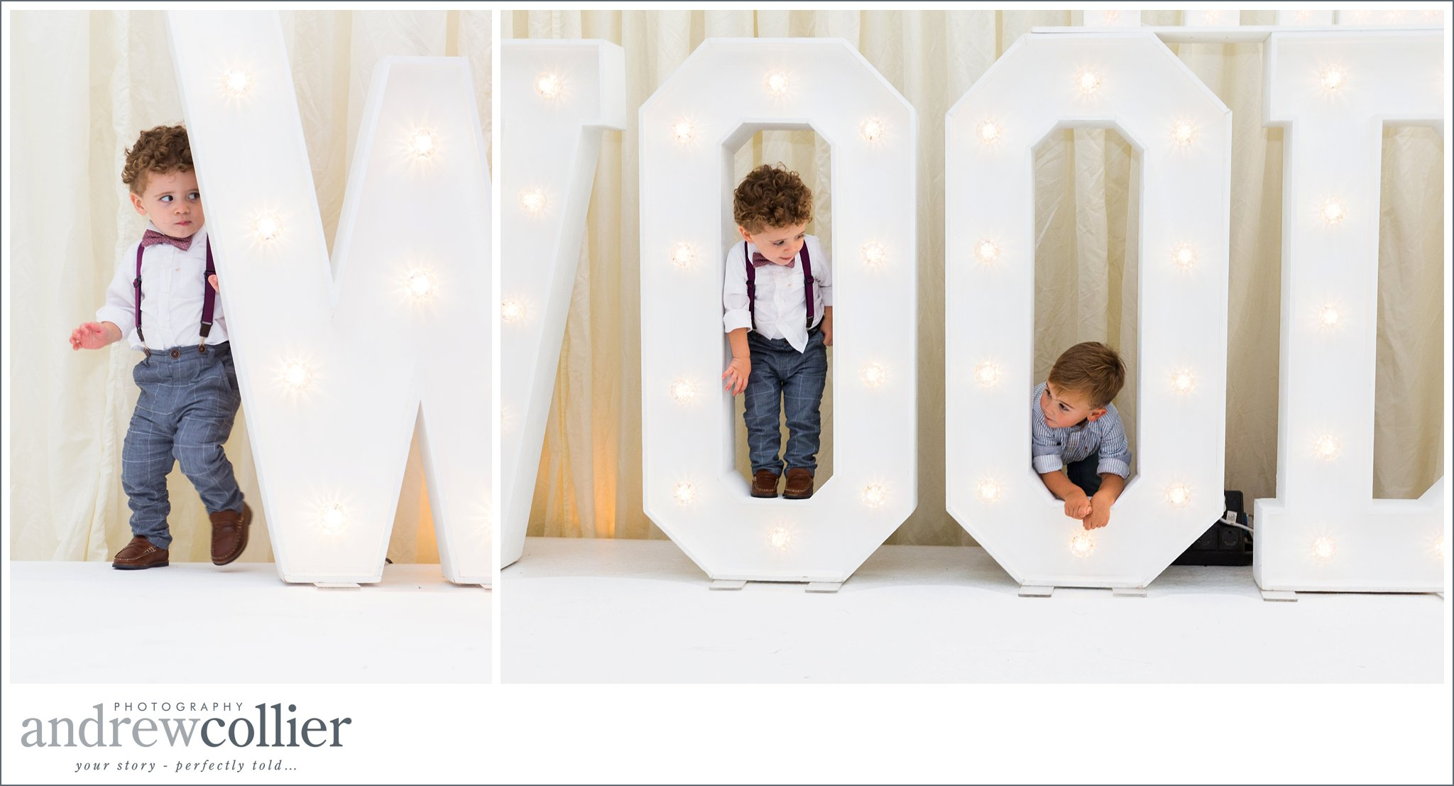 Children playing at a wedding by Andrew Collier Photography