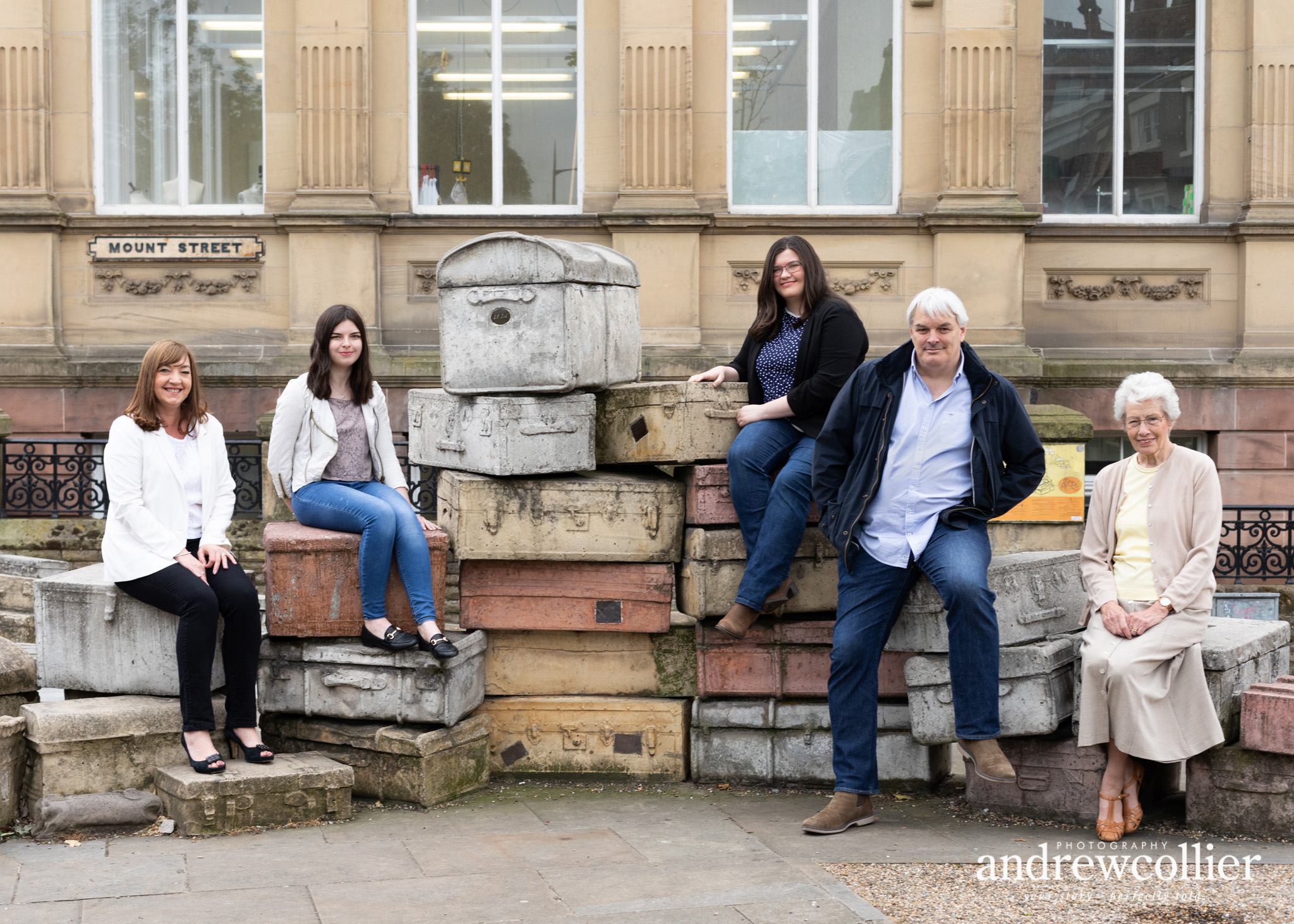 Family group portrait photograph in Hope Place, Liverpool