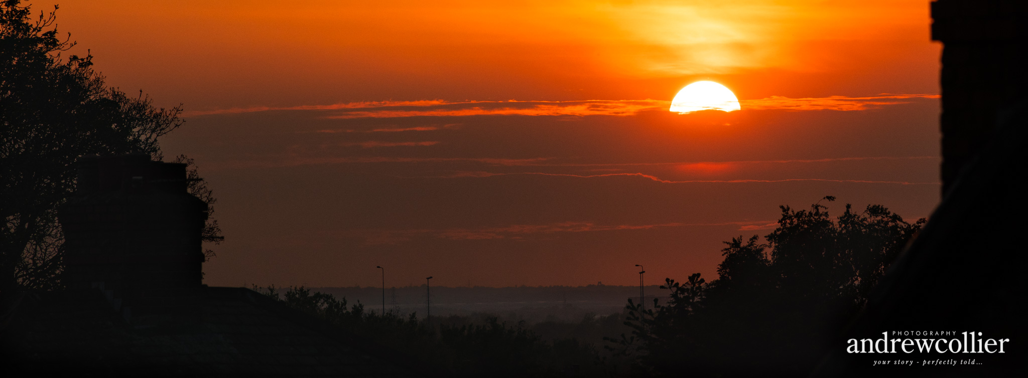 Sunset over Thelwall viaduct